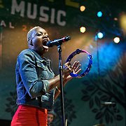 COLUMBIA, MD - April 28th, 2012 -  Noelle Scaggs of Fitz and the Tantrums performs at the 2012 Sweetlife Food and Music Festival at Merriweather Post Pavilion in Columbia, MD.  (Photo by Kyle Gustafson/For The Washington Post)