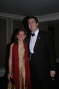 Countess Katherina Reuttner and her brother Count Nicholas Reuttner. White Knights Ball, Grosvenor House Hotel 7 January 2005. ONE TIME USE ONLY - DO NOT ARCHIVE  © Copyright Photograph by Dafydd Jones 66 Stockwell Park Rd. London SW9 0DA Tel 020 7733 0108 www.dafjones.com