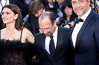 Penelope Cruz, Director Asghar Farhadi and Javier Bardem at the Opening Ceremony and Everybody Knows (Todos Lo Saben) gala screening at the 71st Cannes Film Festival Tuesday 8th May 2018, Cannes, France. Photo credit: Doreen Kennedy