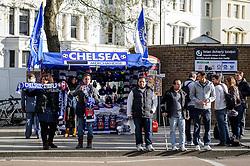 Chelsea merchandise is sold before the match - Photo mandatory by-line: Rogan Thomson/JMP - 07966 386802 - 08/04/2014 - SPORT - FOOTBALL - Stamford Bridge, London - Chelsea v Paris Saint-Germain - UEFA Champions League Quarter-Final Second Leg.