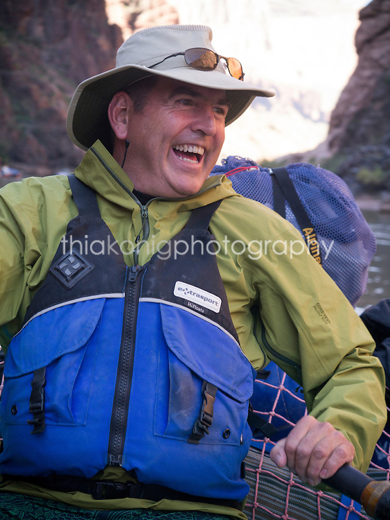 Portrait of boatman, Colorado River, Grand Canyon, AZ
