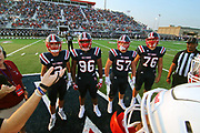 West Monroe Rebels beat the John Ehret Patriots  47-32 at Don Shows Field at Rebel Stadium in West Monroe, LA 1Sept2017