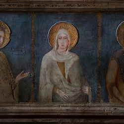 Lisa Johnston | lisajohnston@archstl.org Fresco of St. Clare of Assisi in the Basilica of St. Francis.