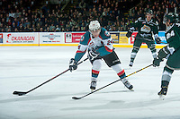 KELOWNA, CANADA - JANUARY 24: Tyson Baillie #24 of Kelowna Rockets skates with the puck against the Everett Silvertips on January 24, 2015 at Prospera Place in Kelowna, British Columbia, Canada.  (Photo by Marissa Baecker/Shoot the Breeze)  *** Local Caption *** Tyson Baillie;