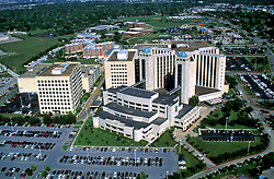 Aerial view of Memorial Hospital Southwest in Houston, Texas.