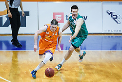 Luka Voncina of KK Helios Suns and Matej Krusic of KK Zlatorog during basketball match between KK Zlatorog and KK Helios Suns in 4th match of Nova KBM Slovenian Champions League Final 2015/16 on June 5, 2016 in Dvorana Komunalnega centra, Domzale, Slovenia Photo by Grega Valancic / Sportida