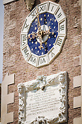 Clocktower detail at the Arsenal, Venice, Veneto, Italy