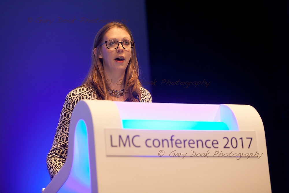 Zoe Greaves<br /> BMA LMC's Conference<br /> EICC, Edinburgh<br /> <br /> 18th May 2017<br /> <br /> Picture by Gary Doak