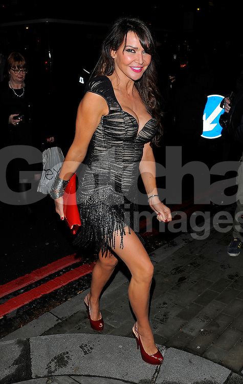 Lizzie Cundy at the I Can't Sing opening night party held at One Marylebone in London, UK. 26/03/2014<br />