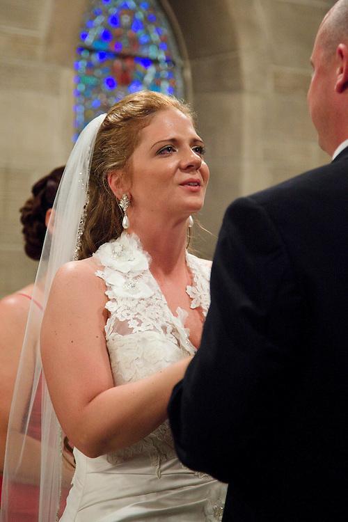 Wedding of Kristie Rogalinski and Trevor Jones in Duncan Memorial Chapel Saturday, May 21, 2011.
