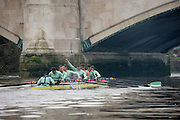 Mens Trials VIIIs for 162nd University Boat Race, sponsored by BNY MELLON, held on the Championship Course from Putney to Mortlake,  Sunday 13 December 2015.<br /> <br /> CUBC Trial VIII's between FUERTE on Surrey and LISTO on Middlesex<br /> <br /> FUERTE, Bow, Peter Carey, 2, Patrick Elwood, 3, Alister Taylor, 4, Peter Rees, 5, Charlie Fisher, 6, Ali Abbasi, 7, Luke Juckett, Stroke, Lance Tredell, Cox, Ian Middleton<br /> <br /> LISTO, Bow, Piers Kasas, Felix Newman, 3, Sam Ringer, 4, Joe Carroll, 5, Clemens Auersperg, 6, Vincent Bertram, 7, Henry Hoffstot, Stroke, Ben Ruble, Cox, Hugo Ramambason