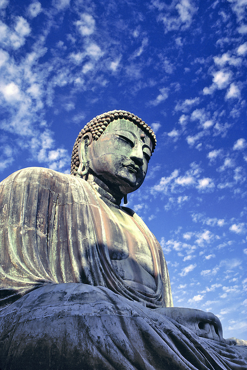 The bronze Buddha, or Great Daibatsu, at Kamakura, Japan, is over 35 feet high.