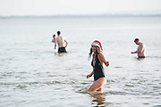 25/12/2015 Lorna Carty from Turloughmore Salthill Galway taking part in the COPE annual Christmas Day swim  . Photo:Andrew Downes