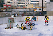 Ice hockey players<br /> Ulaanbaatar city<br /> Mongolia