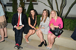 Left to right, HAMISH GOAR, ZOE BOND, ALEXANDRA MADELEY and SOPHIE TAYLOR at a party to celebrate the launch of Le Jardin de Monsieur Li by Hermes in association with Mr Fogg's was held at Hermes, 155 New Bond Street, London on 9th July 2015.