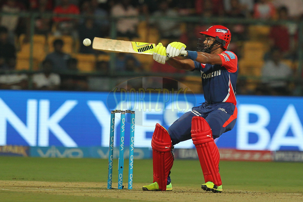 Aditya Tare of Delhi Daredevils during match 5 of the Vivo 2017 Indian Premier League between the Royal Challengers Bangalore and the Delhi Daredevils held at the M.Chinnaswamy Stadium in Bangalore, India on the 8th April 2017Photo by Prashant Bhoot - IPL - Sportzpics