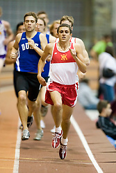 John Brockardt (VMI) in the men's 1000m run.  Day 2 of the Virginia Tech Invitational Track and Field meet was held at the Rector Field House on the campus of Virginia Tech in Blacksburg, VA on January 12, 2008.