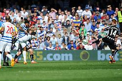 Queens Park Rangers' Leroy Fer scores to make it 2-1 - Photo mandatory by-line: Dougie Allward/JMP - Mobile: 07966 386802 - 16/05/2015 - SPORT - football - London - Loftus Road - QPR v Newcastle United - Barclays Premier League