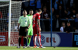 Aden Flint and Richard O'Donnell of Bristol City inspect a nearly dead bird - Mandatory by-line: Robbie Stephenson/JMP - 09/08/2016 - FOOTBALL - Adams Park - High Wycombe, England - Wycombe Wanderers v Bristol City - EFL League Cup