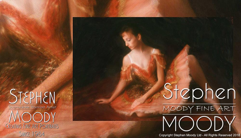 Fine Art Portraits by Scottsdale Portrait Artist Stephen Moody - Commissioned Mixed Media Portraiture