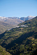 Village of Capileria, High Alpujarras, Sierra Nevada, Granada Province, Spain whitewashed