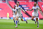 Tranmere Rovers Connor Jennings(11) celebrates after scoring a goal 1-1 during the Vanarama National League Play Off Final match between Tranmere Rovers and Forest Green Rovers at Wembley Stadium, London, England on 14 May 2017. Photo by Adam Rivers.