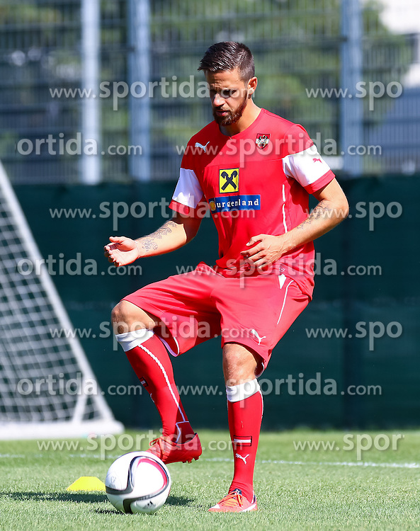 01.09.2015, Ernst Happel Stadion, Wien, AUT, UEFA Euro 2016 Qualifikation, Österreich vs Moldawien, Gruppe G, Training Österreich, im Bild Martin Harnik (AUT)// during a training session of Team Austria (AUT) in front of the UEFA European Championship Qualifier Match between Austria (AUT) and Moldova (MDA) at the Ernst Happel Stadion, Vienna, Austria on 2015/09/01. EXPA Pictures © 2015, PhotoCredit: EXPA/ Sebastian Pucher