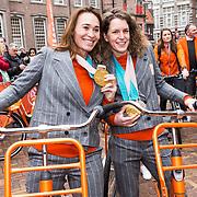 NLD/Den Haag/20180323 - Huldiging Olympische en Paralympische medaillewinnaars, Mentel en Ireen Wust