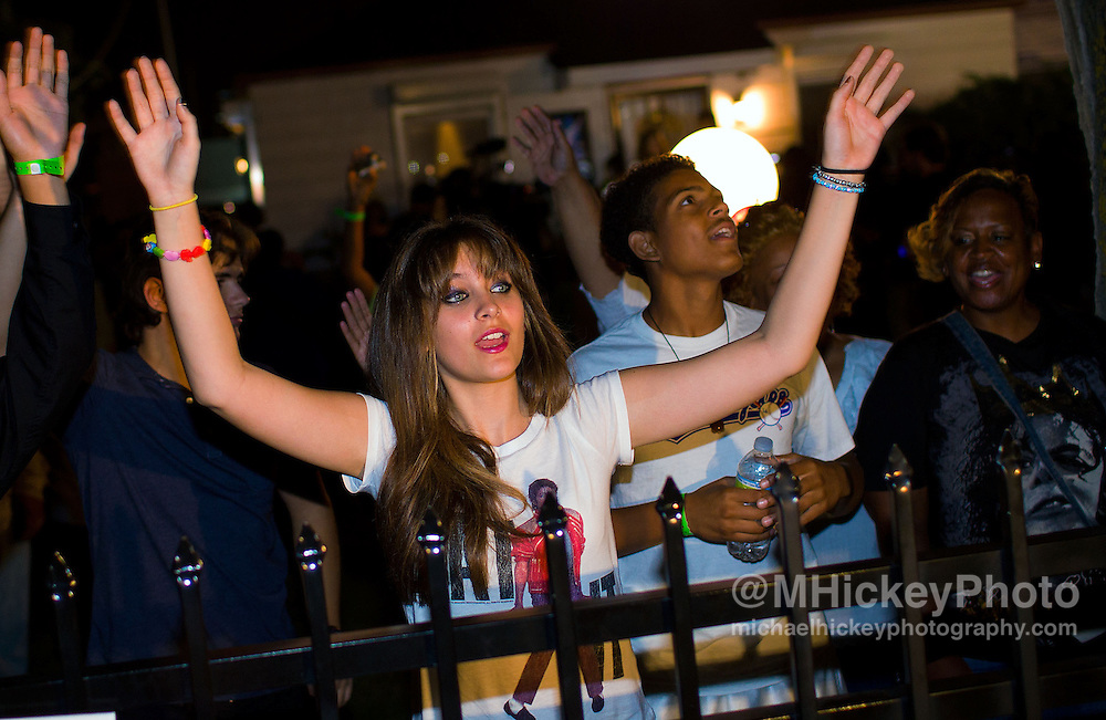 Paris Jackson at Michael Jackson Candlelight Vigil - Gary, Indiana