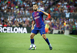 August 20, 2017 - Barcelona, Catalonia, Spain - Jordi Alba during La Liga match between F.C. Barcelona v Real Betis Balompie, in Barcelona, on August 20, 2017. hoto: Joan Valls/Urbanandsport/Nurphoto  (Credit Image: © Joan Valls/NurPhoto via ZUMA Press)