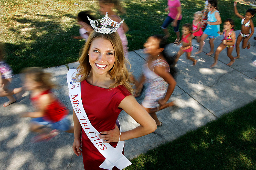 Miss Tri-Cities 2010 Adrienne Bousquet's platform is Girls on the Run International, an organization that encourages healthy and active lifestyles through running for pre-teen girls.