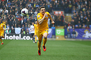 Preston North End Striker Jordan Hugill during the Sky Bet Championship match between Bolton Wanderers and Preston North End at the Macron Stadium, Bolton, England on 12 March 2016. Photo by Pete Burns.