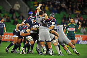 Rolling action / Maul<br /> Melbourne Rebels v The Hurricanes<br /> Rugby Union - 2011 Super Rugby<br /> AAMI Park, Melbourne VIC Australia<br /> Friday, 25 March 2011<br /> &copy; Sport the library / Jeff Crow