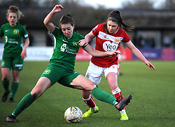 Carla Humphrey of Bristol City competes with Ellie Mason of Yeovil Town Ladies - Mandatory by-line: Nizaam Jones/JMP - 27/01/2019 - FOOTBALL - Stoke Gifford Stadium - Bristol, England - Bristol City Women v Yeovil Town Ladies- FA Women's Super League 1