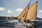 12 Meter Class Kate at the St. Maarten Classic Yacht Regatta