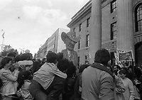 Protests in Dublin opposing the visit of President Reagan,  circa June 1984. (Part of the Independent Newspapers Ireland/NLI Collection).