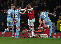 Football - 2019 /2020 FA Cup - Third Round: Arsenal vs. Leeds United.<br /> <br /> Tempers flare towards the end of the game at the Emirates Stadium<br /> <br /> COLORSPORT/DANIEL BEARHAM