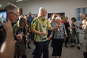 MARTIN PARR; SUSIE PARR; Opening of the Martin Parr Foundation party,  Martin Parr Foundation, 316 Paintworks, Bristol, BS4 3 EH  20 October 2017