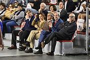 DESCRIZIONE : Campionato 2014/15 Virtus Acea Roma - Enel Brindisi<br /> GIOCATORE : Claudio Toti Sergio D'Antoni<br /> CATEGORIA : Spettatori Pubblico Presidente<br /> SQUADRA : Virtus Acea Roma<br /> EVENTO : LegaBasket Serie A Beko 2014/2015<br /> GARA : Virtus Acea Roma - Enel Brindisi<br /> DATA : 19/04/2015<br /> SPORT : Pallacanestro <br /> AUTORE : Agenzia Ciamillo-Castoria/GiulioCiamillo