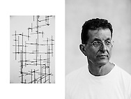 Antony Gormley photographed at his studio in North London, 5th September 2016. Photographed by Greg Funnell for the Financial Times