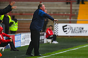 Wally Downes of AFC Wimbledon (Manager) during the EFL Sky Bet League 1 match between Fleetwood Town and AFC Wimbledon at the Highbury Stadium, Fleetwood, England on 10 August 2019.