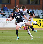 Dundee's Paul McGowan is challenged by Inverness Caledonian Thistle&rsquo;s Danny Williams - Dundee v Inverness Caledonian Thistle - SPFL Premiership at Dens Park <br /> <br />  - &copy; David Young - www.davidyoungphoto.co.uk - email: davidyoungphoto@gmail.com