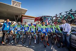 Team Slovenia: Domen Novak, Primoz Roglic, Grega Bole, Jan Polanc, Matej Mohoric, Jan Tratnik, Luka Pibernik and Simon Spilak during the Men's Elite Road Race a 258.5km race from Kufstein to Innsbruck 582m at the 91st UCI Road World Championships 2018 / RR / RWC / on September 30, 2018 in Innsbruck, Austria. Photo by Vid Ponikvar / Sportida
