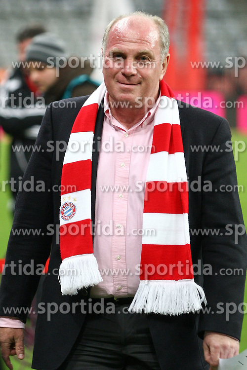 29.10.2010, Allianz Arena, Muenchen, GER, 1.FBL, FC Bayern Muenchen vs SC Freiburg, im Bild Uli Hoenefl (Pr?sident Bayern)  , EXPA Pictures © 2010, PhotoCredit: EXPA/ nph/  Straubmeier+++++ ATTENTION - OUT OF GER +++++