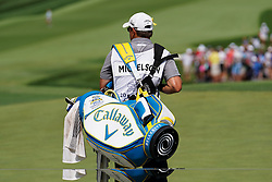 August 10, 2018 - St. Louis, Missouri, United States - Caddie Tim Mickelson waits on the 9th green during the second round of the 100th PGA Championship at Bellerive Country Club. (Credit Image: © Debby Wong via ZUMA Wire)