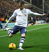 Joe Garner during the Sky Bet Championship match between Preston North End and Bolton Wanderers at Deepdale, Preston, England on 31 October 2015. Photo by Pete Burns.