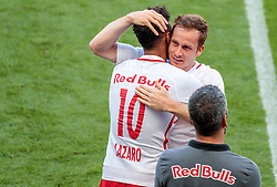 28.05.2017, Red Bull Arena, Salzburg, AUT, 1. FBL, FC Red Bull Salzburg vs Cashpoint SCR Altach, 36. Runde, im Bild Valentino Lazaro (FC Red Bull Salzburg), Christian Schwegler (FC Red Bull Salzburg) // during Austrian Football Bundesliga 36th round Match between FC Red Bull Salzburg and Cashpoint SCR Altach at the Red Bull Arena, Salzburg, Austria on 2017/05/28. EXPA Pictures © 2017, PhotoCredit: EXPA/ JFK