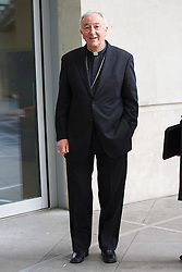 © licensed to London News Pictures. London, UK 02/03/2014. Cardinal Archbishop of Westminster, Vincent Nichols arriving at BBC Broadcasting House in London before appearing on the The Andrew Marr show on BBC One. Photo credit: Tolga Akmen/LNP
