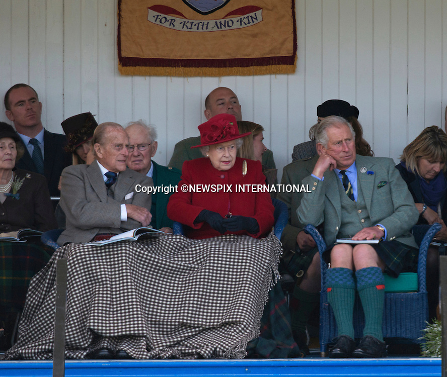 05.09.2015; Braemar, Scotland: PRINCE CHARLES LOOKING BORED<br /> With the Queen Elizabeth celebrating as the longest serving British Monarch on 9th Septemebr 2015, her long suffering son and heir  Prince Charles has had to wait a long time to ascend to the throne.<br /> Could this be the time for him to take over?<br /> The Royals who included The Queen, Duke of Edinburgh, Prince Charles, Peter Philips and wife Autumn were attending the 200th Braemar Highland Gathering.<br /> Mandatory Photo Credit: &copy;NEWSPIX INTERNATIONAL<br /> <br /> **ALL FEES PAYABLE TO: &quot;NEWSPIX INTERNATIONAL&quot;**<br /> <br /> PHOTO CREDIT MANDATORY!!: NEWSPIX INTERNATIONAL(Failure to credit will incur a surcharge of 100% of reproduction fees)<br /> <br /> IMMEDIATE CONFIRMATION OF USAGE REQUIRED:<br /> Newspix International, 31 Chinnery Hill, Bishop's Stortford, ENGLAND CM23 3PS<br /> Tel:+441279 324672  ; Fax: +441279656877<br /> Mobile:  0777568 1153<br /> e-mail: info@newspixinternational.co.uk