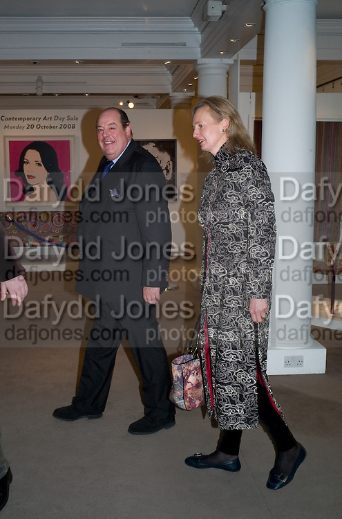 NICHOLAS SOAMES; CATHERINE SOAMES, Master and Commanders by Andrew Roberts book launch. Sotheby's Bond Street . London. 13 October 2008 *** Local Caption *** -DO NOT ARCHIVE -Copyright Photograph by Dafydd Jones. 248 Clapham Rd. London SW9 0PZ. Tel 0207 820 0771. www.dafjones.com